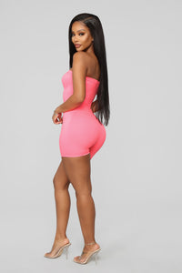 Buenos Aires Romper - Neon Pink Angle 4