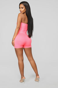 Buenos Aires Romper - Neon Pink Angle 6