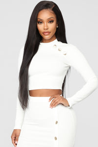 Button Pusher Ribbed Set - White Angle 2