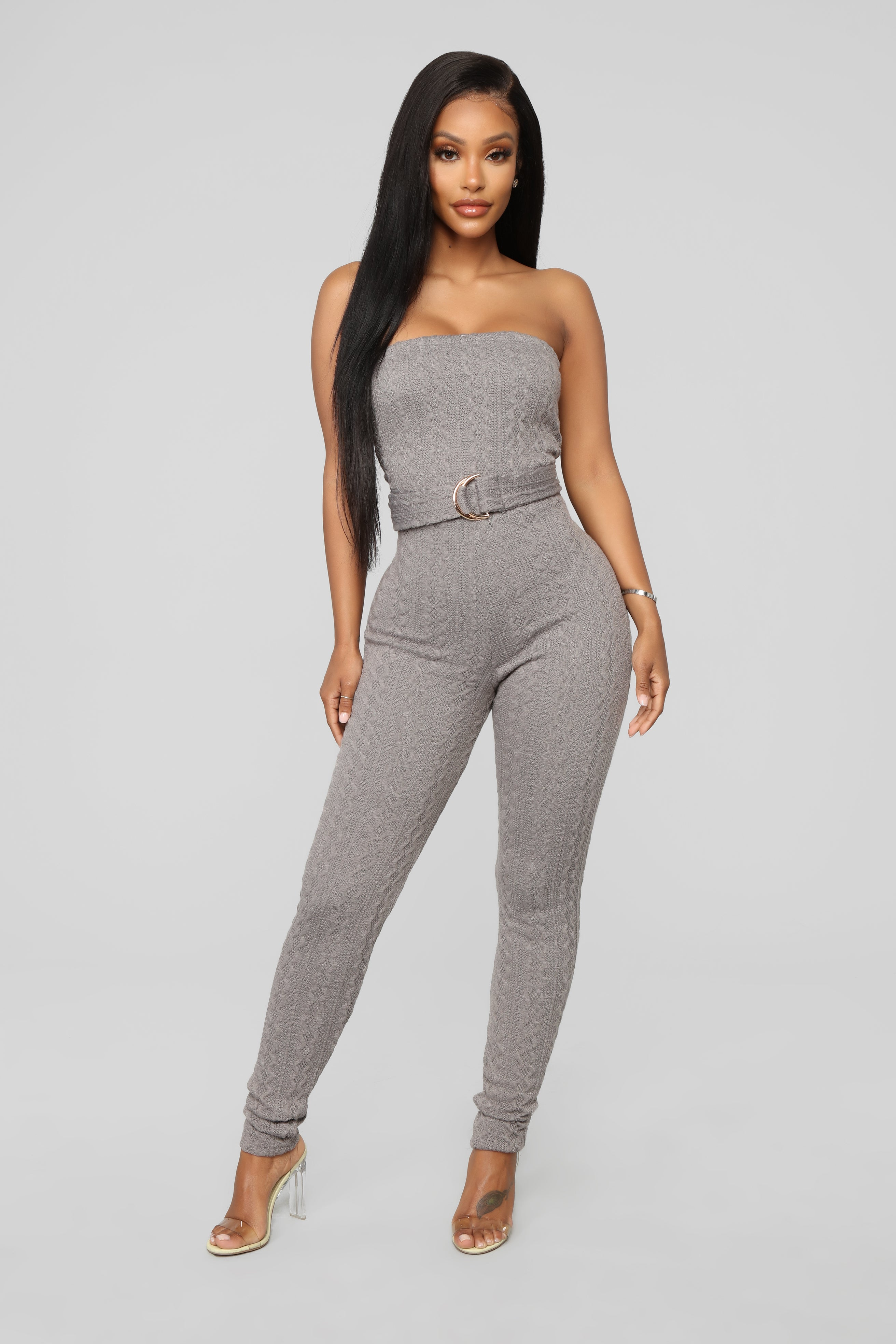 6595eac069c0 I Love Me A Hug Sweater Jumpsuit - Grey
