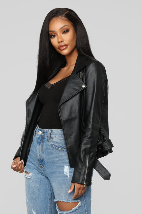 On The Edge Moto Jacket - Black 41040b55385