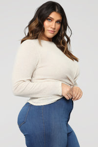 Twisted Story Top - Ivory