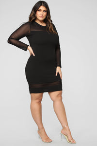 Pretty Young Thang Dress - Black Angle 4