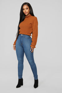 All To Myself Cropped Sweater - Mocha