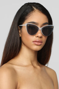 Little Things Sunglasses - White Angle 2