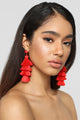 No Time No Tassel Earrings - Red