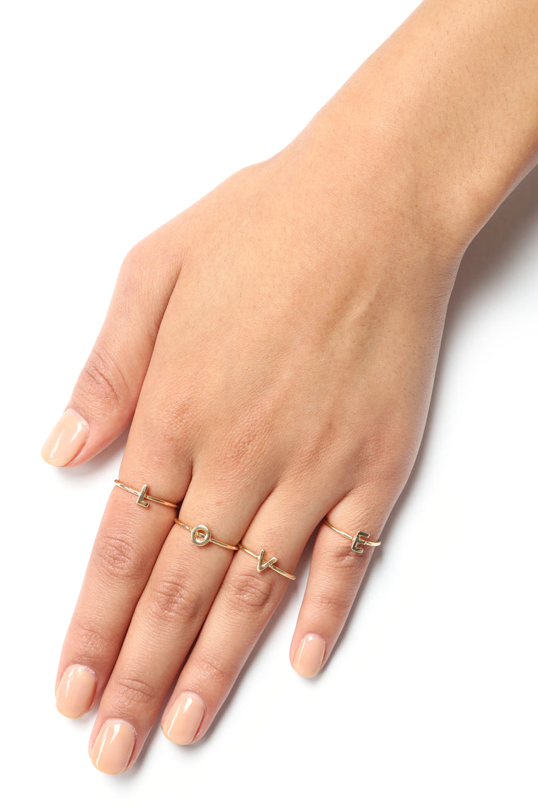 Handle This Love Ring Set - Gold