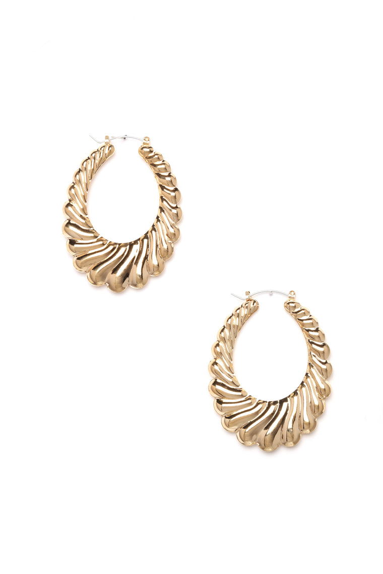 She's A Babe Hoop Earrings - Gold