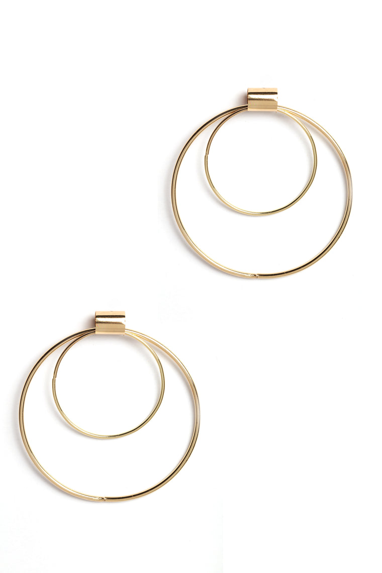 My Big And My Little Hoop Earrings - Gold
