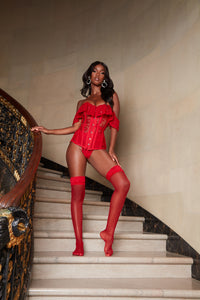 Dream About Me For Weeks Lace Corset - Red