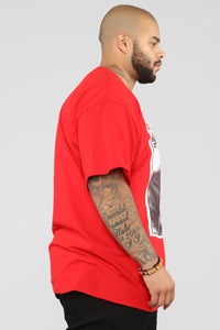 PJ Thoughts Short Sleeve Tee - Red/Combo Angle 11
