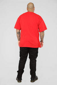 PJ Thoughts Short Sleeve Tee - Red/Combo Angle 13