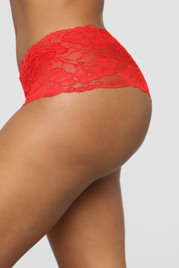 f504d0f5bc1e Perfect Everyday Lace Waist Boyshort Panty - Red