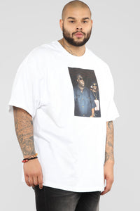 Biggie And Puff Short Sleeve Tee - White/Combo Angle 8