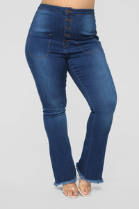 Get Your Groovy High Rise Jeans - Medium Blue Wash