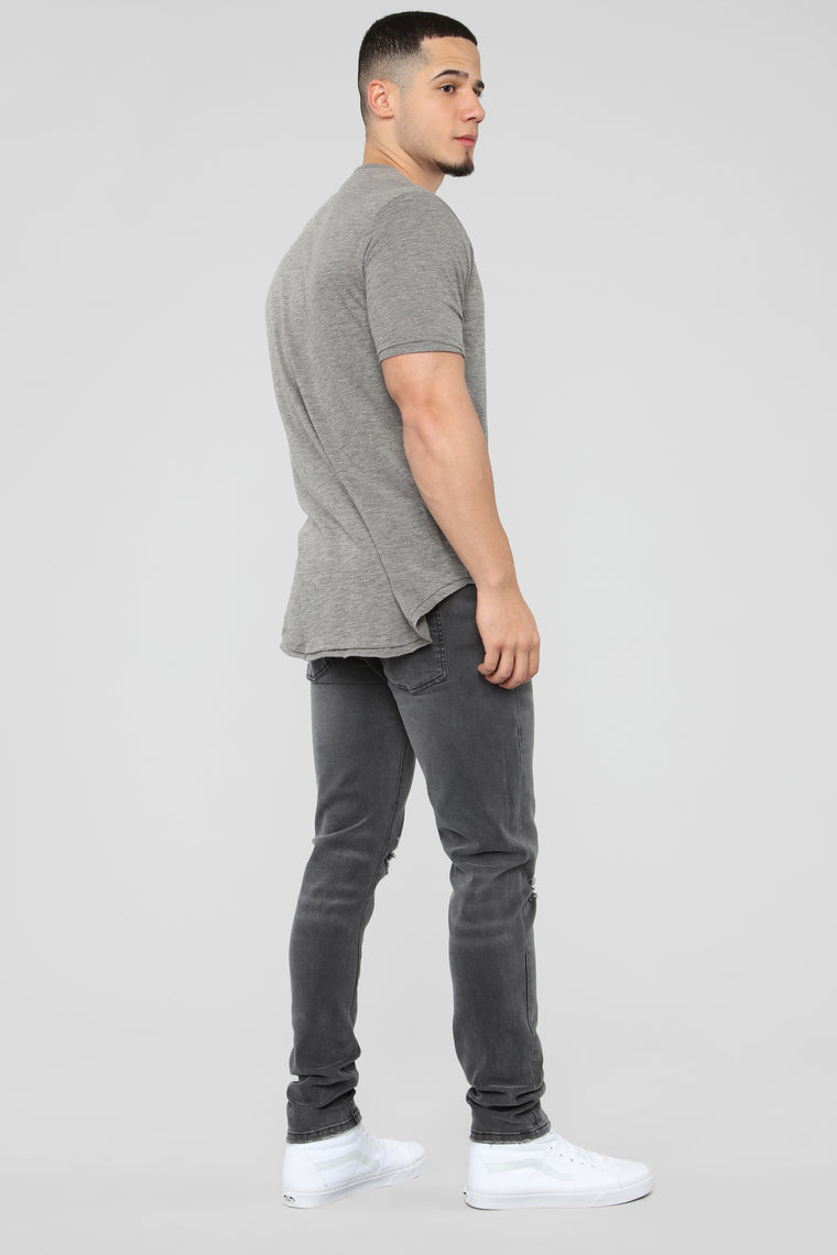 Trent Short Sleeve Tee - Charcoal