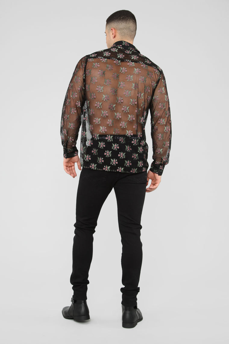 Full Bloom Long Sleeve Shirt - Black/Combo