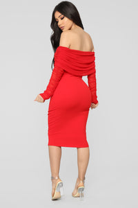 Take Me On A Dinner Date Dress - Red