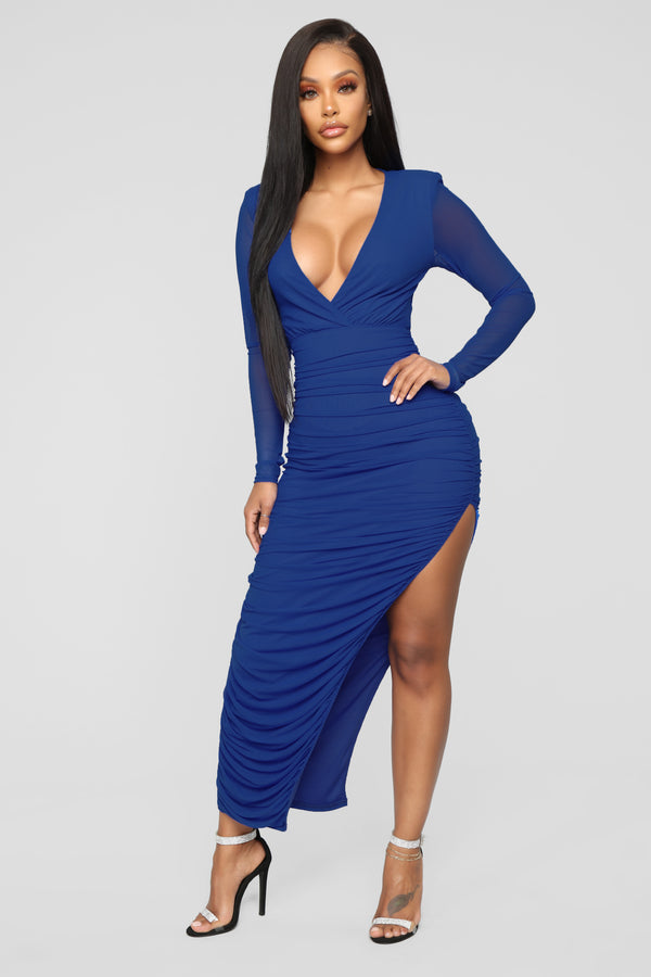 81bf1452dbd51f Forgetting You Mesh Maxi Dress - Royal