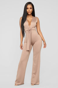 The Very Beginning Jumpsuit - Mocha