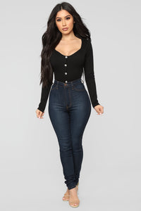 Night Love Bodysuit - Black