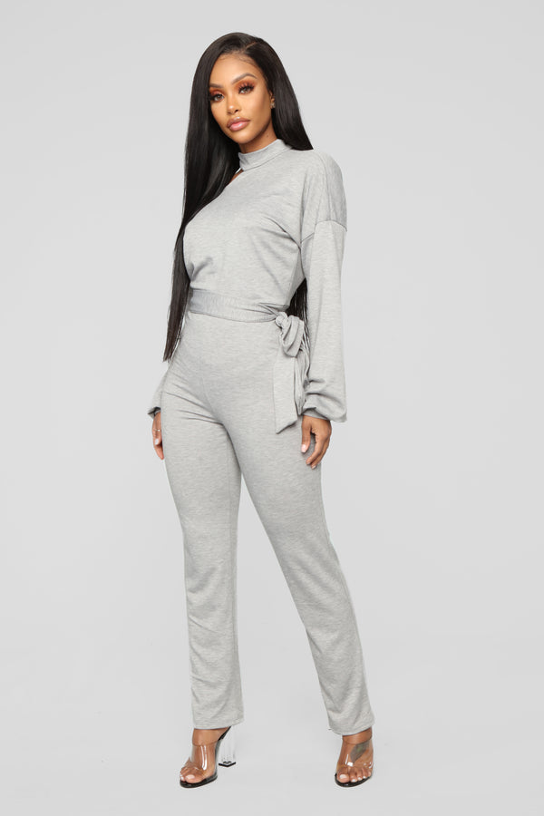 c2c3f8fd9159 Joie Cutout Jumpsuit - Heather Grey