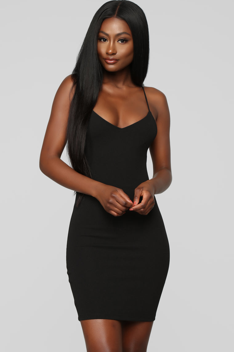 Having It My Way Cut Out Dress - Black