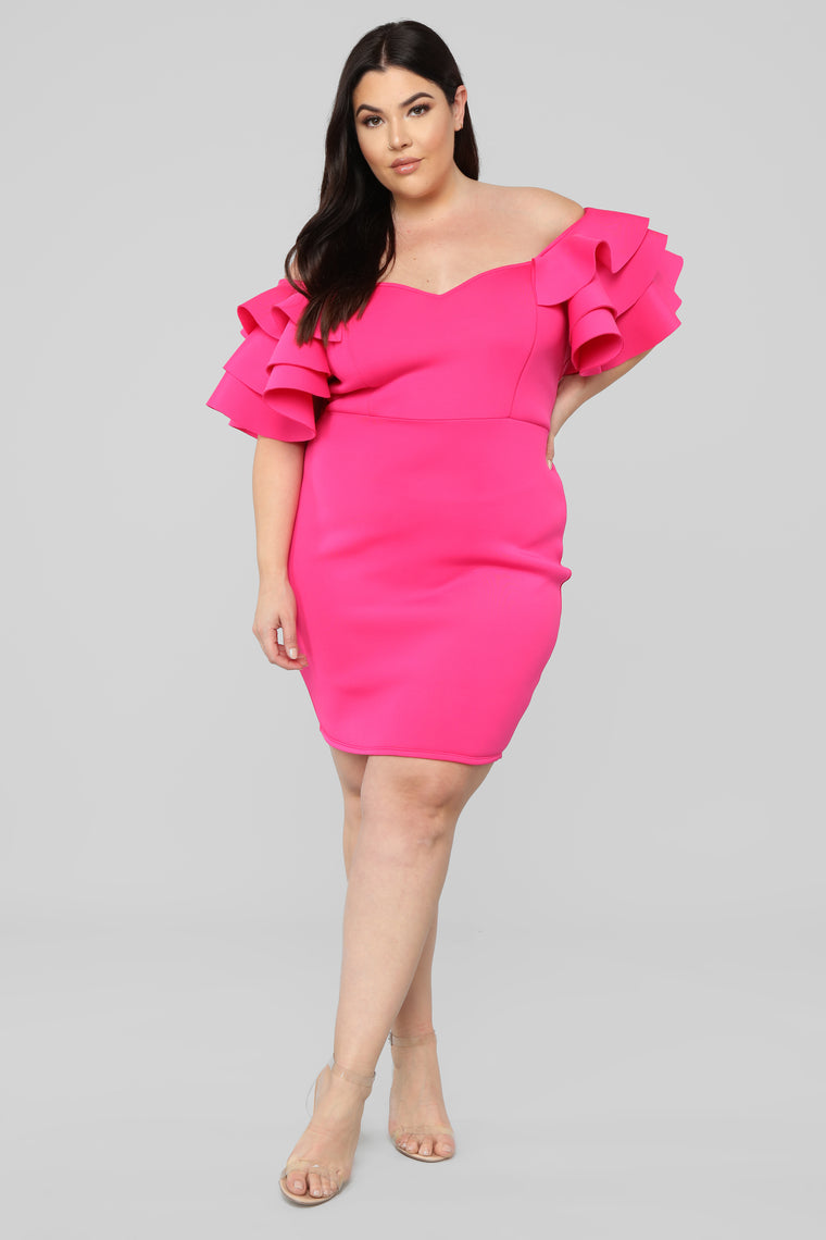 Just For Tonight Dress - Fuchsia