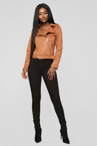 On The Go Moto Jacket - Cognac