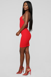 Having It My Way Cut Out Dress - Red