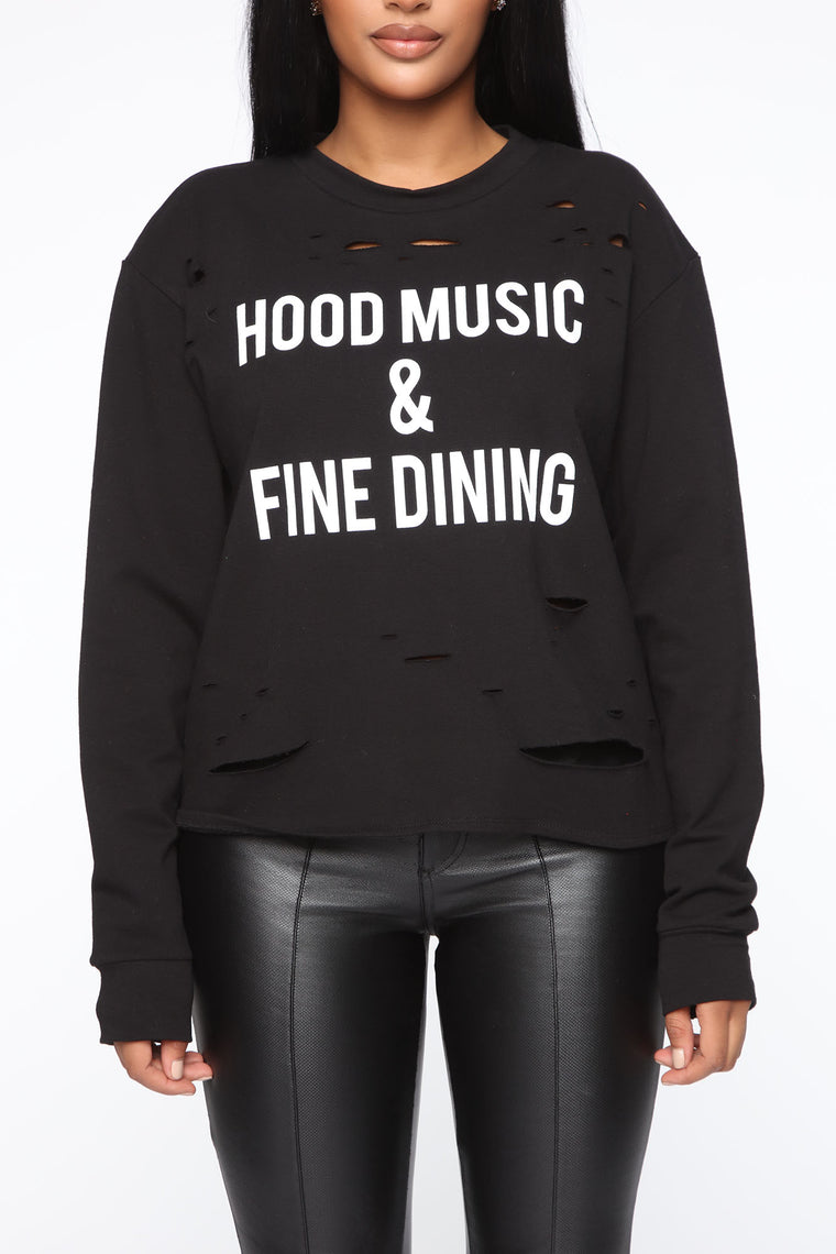 A Little Hood Sweatshirt - Black