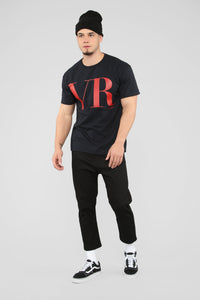 VR Short Sleeve Tee - Black/Red
