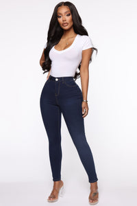 Oooh Girl High Rise Ankle Jeans - Rinse Angle 1