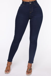 Oooh Girl High Rise Ankle Jeans - Rinse Angle 2