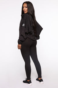 True Fitness Performance Zip Up Jacket With Hidden Hood - Black Angle 5