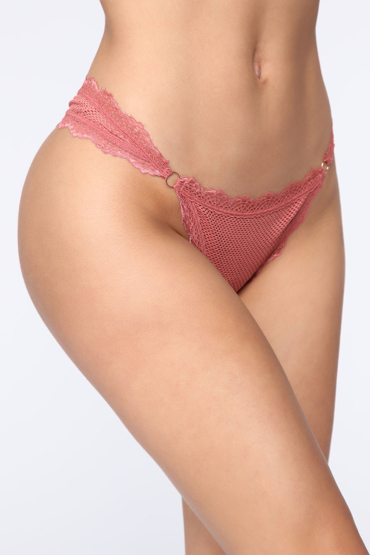 Lace Babe 3 pack Thong Panties - Rose/Combo