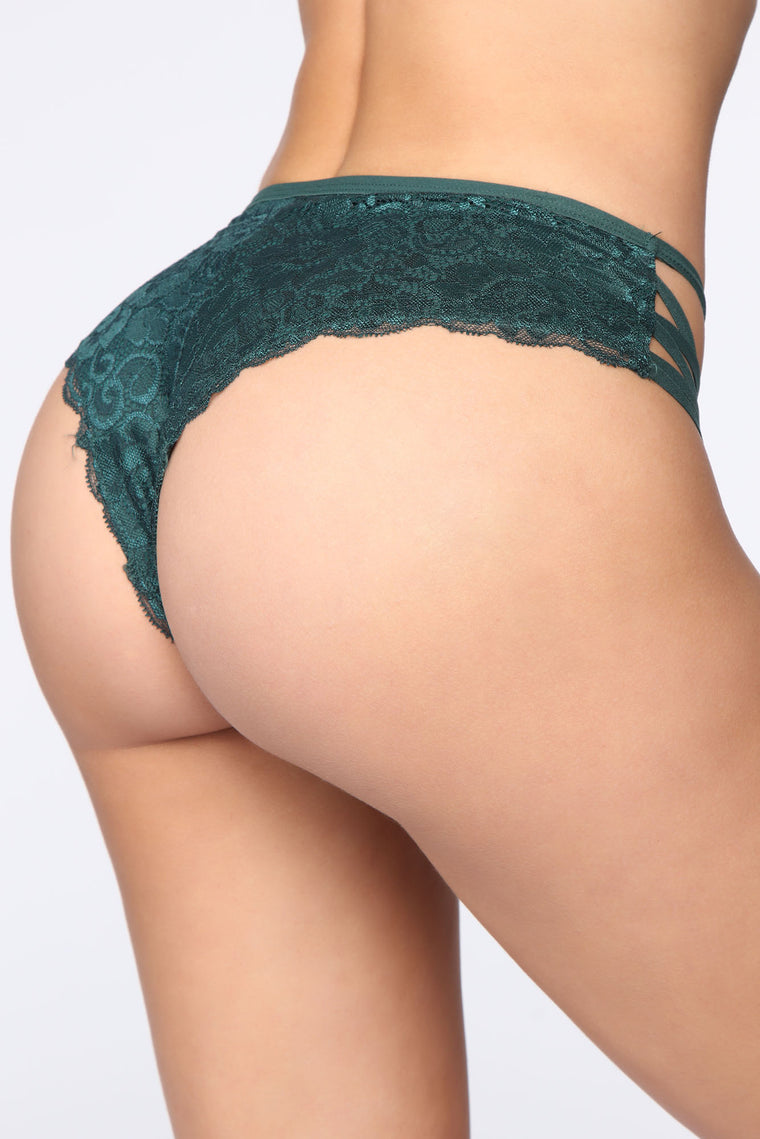 Lace Up Lady 3 Pack Panties - Green/combo
