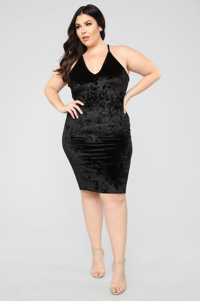 Crushing On You Dress - Black