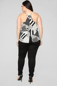You Decide Printed Cami - White/Black