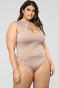 Moments Like This Bodysuit - Taupe
