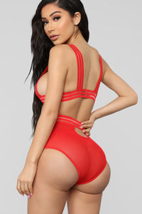 The Hots For Me 2 Piece Set - Red