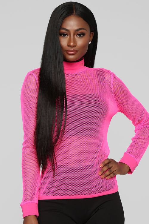 Photograph Me Long Sleeve Top - Neon/Pink