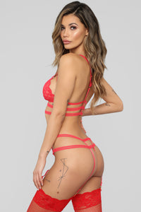 Crazy In Love For You 2 Piece Set - Red
