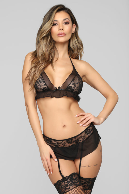 Your Perfect Girl Lace 3 Piece Set - Black befb12db6e