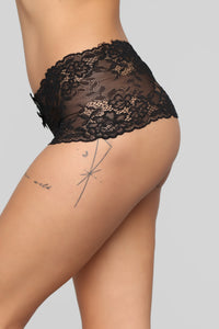 Yours To Keep Lace Panty - Black