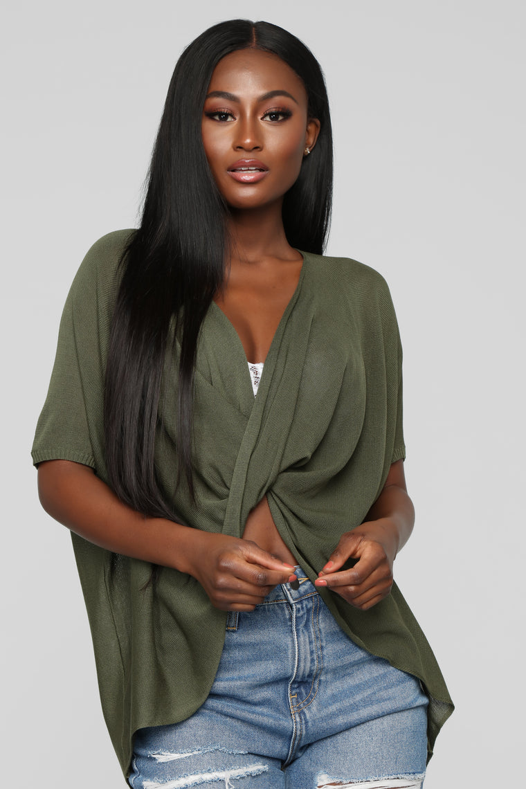 No More Tears Sweater - Olive