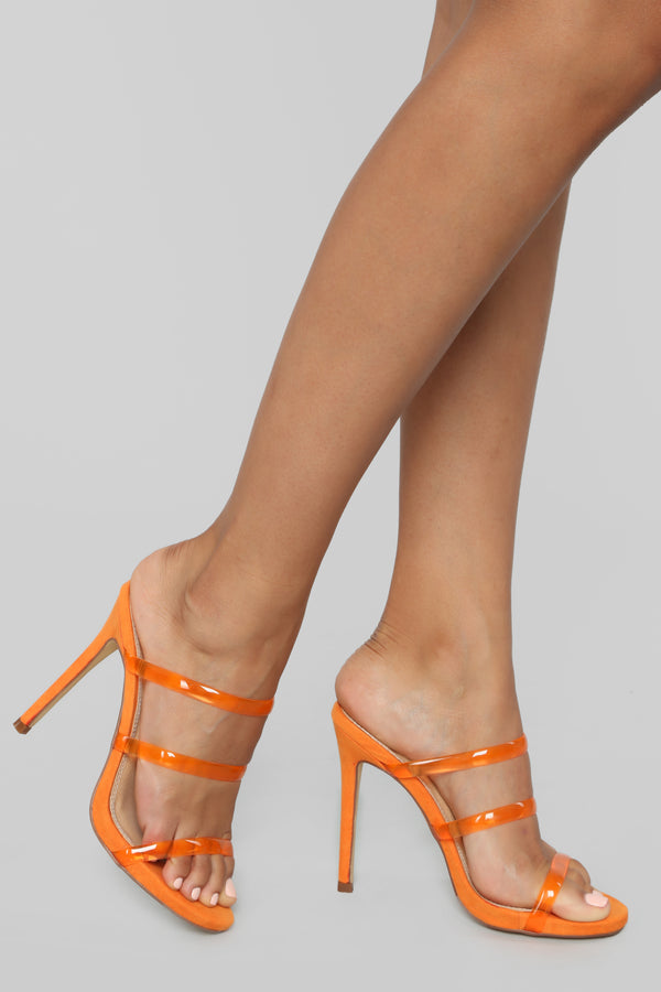 f4d5132dd040 Definitely Not Heeled Sandals - Orange