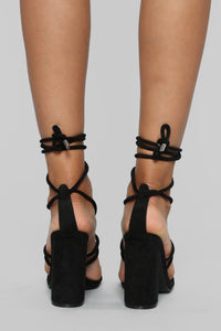 Tell Him Heeled Sandals - Black