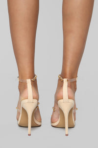 Break Free Heeled Sandals - Nude