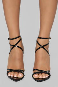 Straps Away Heeled Sandal - Black